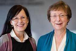 Drs. Dianne Cox and Barbara Birshtein