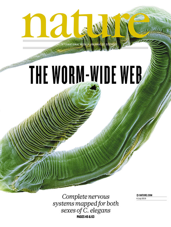 Dr. Emmons' study is featured on the cover of the July 4 issue of Nature. (Credit: Nature)