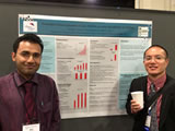 Child neurology residents Drs. Goenka and Nariai presenting their poster at the 2015 Child Neurology Society Meeting.